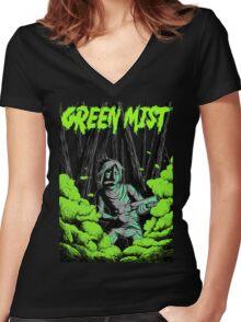 Green Mist Women's Fitted V-Neck T-Shirt