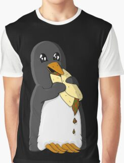 Penguin eating a burrito Graphic T-Shirt