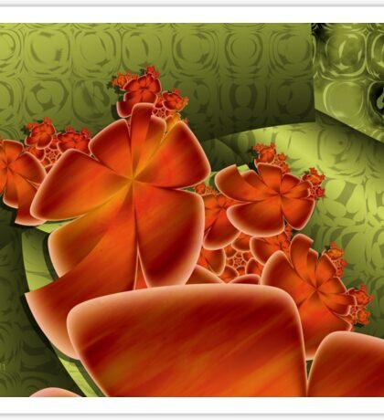Hot Flowers on Paper Foil Sticker