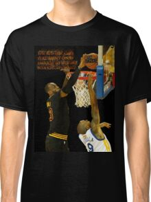 Lebron blocking the haters Classic T-Shirt
