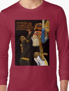 Lebron blocking the haters Long Sleeve T-Shirt