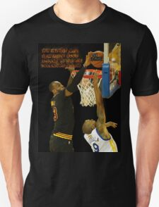 Lebron blocking the haters Unisex T-Shirt