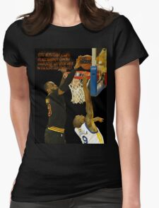 Lebron blocking the haters Womens Fitted T-Shirt