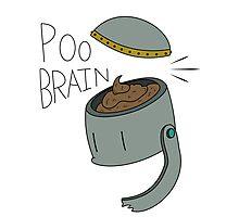 Poo brain robot Photographic Print