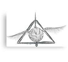 Deathly Hallows Snitch Canvas Print