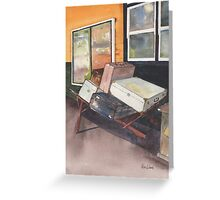 Luggage trolley Greeting Card