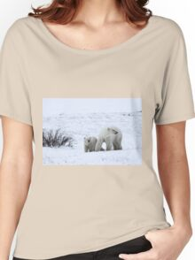 Polar Bear Mother & Cub in the Tundra Women's Relaxed Fit T-Shirt