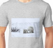 Polar Bear Mother & Cub in the Tundra Unisex T-Shirt