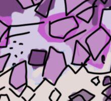 purple amethyst stone - intuition Sticker