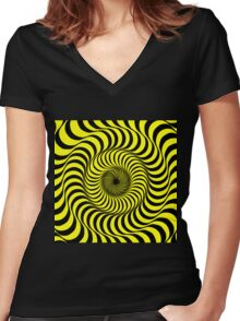 Bring Back the Psychedelic 70's  Women's Fitted V-Neck T-Shirt