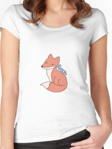 cute foxy forest fox Women's Fitted Scoop T-Shirt