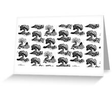 Murder Mystery Toile Greeting Card