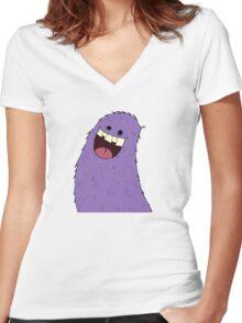 Li the monster  Women's Fitted V-Neck T-Shirt