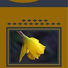 Modern Daffodil T-Shirt Dress by Joy Watson