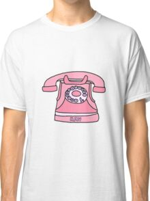 pink hit me up old fashioned phone Classic T-Shirt
