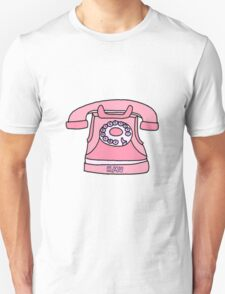 pink hit me up old fashioned phone Unisex T-Shirt