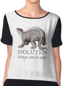 Evolution Dinosaur Humor Chiffon Top