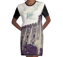 The Looming Tower Of London Graphic T-Shirt Dress