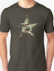 Camouflage Military Star Unisex T-Shirt