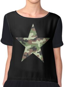 Camouflage Military Star Chiffon Top