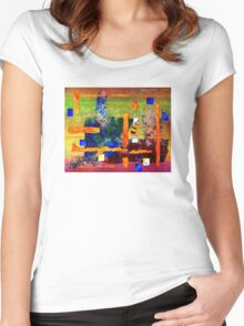 Collage on Lace Women's Fitted Scoop T-Shirt
