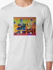 Collage on Lace Long Sleeve T-Shirt