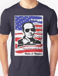 Hunter .S. Thompson. T-Shirt