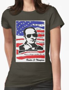 Hunter .S. Thompson. Womens Fitted T-Shirt