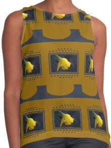 Modern Daffodil T-Shirt Dress Contrast Tank