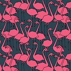 Flock of Flamingos by Andrea Lauren by Andrea Lauren