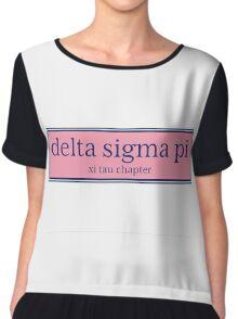 Delta Sigma Pi Vines Chiffon Top