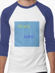 Love and Peace Men's Baseball ¾ T-Shirt