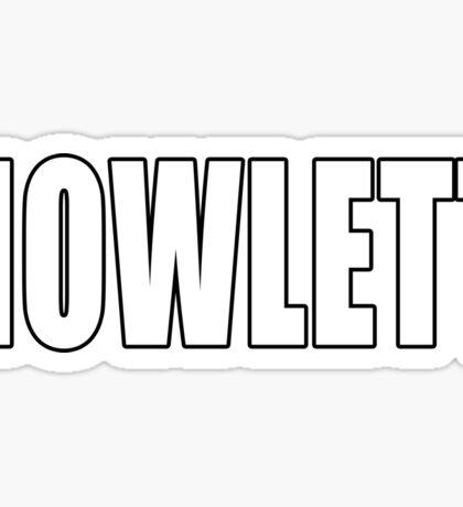 Howlett Sticker