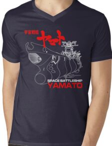 NEW STAR BLAZERS SPACE BATTLESHIP YAMATO JAPAN RETRO ANIME MANGA Mens V-Neck T-Shirt