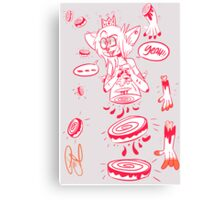 queen of dismemberment  Canvas Print
