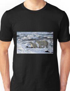 Polar Bear & Cub Tasting the Air, Churchill, Canada Unisex T-Shirt