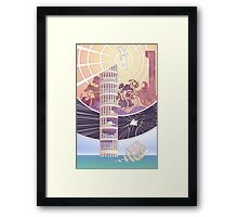 Tower of Animals in the Sea Framed Print