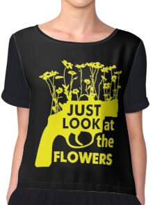 Just Look at the Flowers Chiffon Top