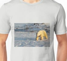Polar Bear Walking in Footprints, Churchill, Canada Unisex T-Shirt