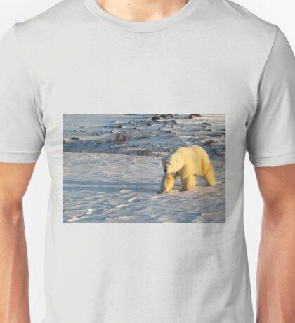 Polar Bear Walking in Footprints, Churchill, Canada Unisex T-Shirt
