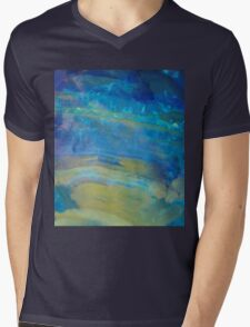 Sunrise, Fire Opal, Non Objective colourful art Mens V-Neck T-Shirt