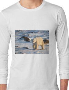 Polar Bear on the Tundra, Churchill, Canada  Long Sleeve T-Shirt