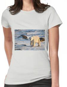 Polar Bear on the Tundra, Churchill, Canada  Womens Fitted T-Shirt