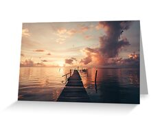 Belize Sunrise Greeting Card