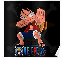 LUffy chibi hands up Poster