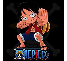 LUffy chibi hands up Photographic Print