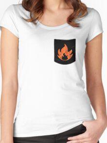 Pokemon Mondern Fire Type Pocket Women's Fitted Scoop T-Shirt