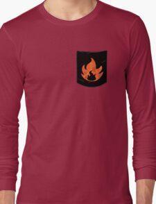 Pokemon Mondern Fire Type Pocket Long Sleeve T-Shirt