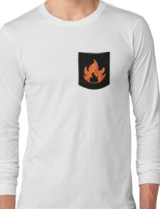 Pokemon Mondern Fire Type Pocket Long Sleeve T-Shirt