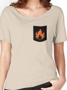 Pokemon Mondern Fire Type Pocket Women's Relaxed Fit T-Shirt